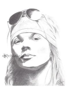 Pencil Portrait Mastery - Axl Rose Rock Star Pencil Drawing Portrait Giclee Print Music Poster GNR Band Poster Fine Art Illustration Artwork Sketch - Discover The Secrets Of Drawing Realistic Pencil Portraits Axl Rose, Music Drawings, Pencil Drawings, Rose Sketch, Black Love Art, Rose Art, Band Posters, Realistic Drawings, Star Art