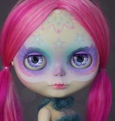 """""""Sirenita"""" Dia de los Muertos Calavera Blythe Custom Art Doll OOAK"""