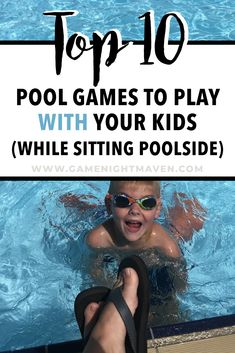 Pool Games To Play, Swimming Pool Games, Games To Play With Kids, Pool Activities, Kid Pool, Summer Activities For Kids, Fun Games, Therapy Activities, Pool Party Games