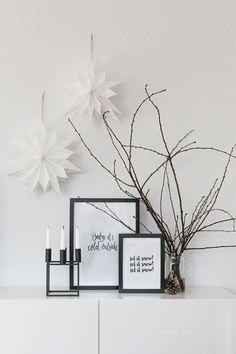 Minimalistische Herbstinspirationen für Sie und Ihre Inneneinrichtung. Kombinieren Sie schlichtes #Design mit festlichen Elementen und genießen Sie gemütliche Tage zu Hause. #Herbst #Minimalistisch #Advent #Inneneinrichtung