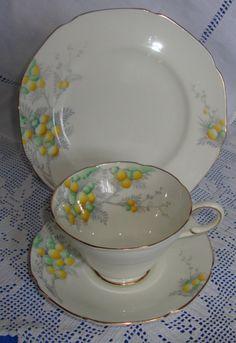 Vintage Paragon Mimosa Tea Trio Made By The by AsFarAsVintage