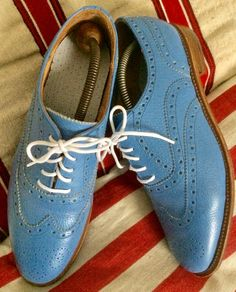 Blue Brogues, Men Dress, Dress Shoes, Oxford Shoes, Lace Up, Fashion, Moda, Fashion Styles, Fashion Illustrations