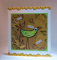 Vogelkaart - Dylusions - Bird card