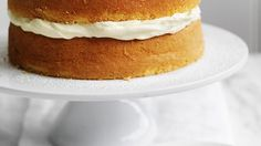 Simple coffee and cream sponge cake