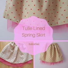 Keeping it Real: Tulle Lined Spring Skirt Tutorial