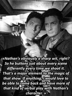 Always something new, Nathan Fillion