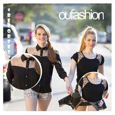 Recortes com transparências, ou aplicações de prints diferenciados, valorizam o look! Para uma pegada fashionista, aposte!  #oufashion #inverno2015 #recortesdiferenciados