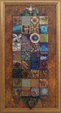 Is this a Laurie Mika piece. bet so. LAURIE'S SITE: http://www.mikaarts.com/gallery.php?type=furniture&op=viewimage&id=513 Collaborative Quilt