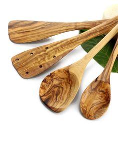 Küchenhelfer-Set 2 aus Olivenholz | treevoli