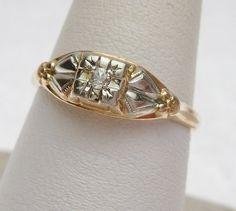 14k & 18K Diamond Engagement Ring by KlinesJewelry on Etsy, $175.00