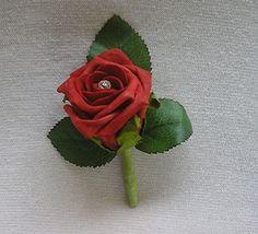 WEDDING FLOWERS PACKAGE ARTIFICIAL FOAM ROSE BOUQUETS IVORY & RED WEDDING FLOWER | eBay