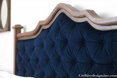 DIY Blue tufted headboard-3