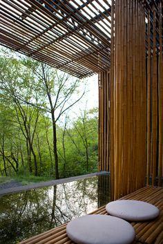 Bamboo House, Commune by the Great Wall. Architect: Kengo Kuma