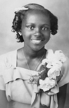 ~ Vintage Photograph ~ Beautiful young African American girl.