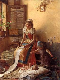 """""""A Mother's Love"""" Gaetano Chierici"""