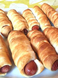 Pigs In A Blanket Hot Dogs Recipe Pigs In A Blanket Hot Dogs Recipe Pigs In A Blanket Hot Dogs Wrapped In Dough<br> Piping hot sausage links wrapped in freshly baked dough! Warm bread on the outside, juicy meat on the inside - delicious! Pigs In A Blanket Recipe Pillsbury, Pillsbury Crescent Recipes, Crescent Roll Recipes, Pillsbury Croissant Dough Recipe, Hot Dog Pigs In A Blanket Recipe, Sausage In A Blanket, Piggies In A Blanket, Hot Dog Rolls, Hot Dog Buns