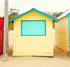 A Brighton Beach Boxes near Melbourne - love this and the color - photo by Janis Nicolay