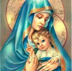 Buy Diamond Painting Religion Icon Full Square Diamond Embroidery Icon Picture Rhinestones Diamond Mosaic Cross Stitch Home Decor Blessed Mother Mary, Blessed Virgin Mary, Virgin Mary Art, Religious Icons, Religious Art, Image Jesus, Queen Of Heaven, Mary And Jesus, Holy Mary