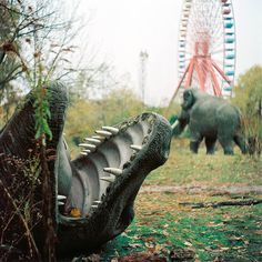 Abandoned amusement park in Berlin, Germany