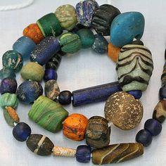 Ancient Glass Bead Strand