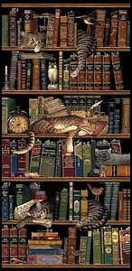 Classic-Tails-Library-Books-Cats-Tapestry-Wall-Hanging