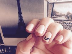 Lovely CND Shellac Valentines nail ideas... Naked Naïveté with stamp detail