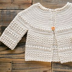 Baby and Kids Free Crochet Sweater Pattern : Close up of sleeve of crochet sweater pattern. Crochet Baby Sweaters, Crochet Cardigan Pattern, Crochet Baby Clothes, Crochet Jacket, Crochet Patterns, Knitting Patterns, Crochet Toddler Sweater, Crochet Shrugs, Sewing Patterns
