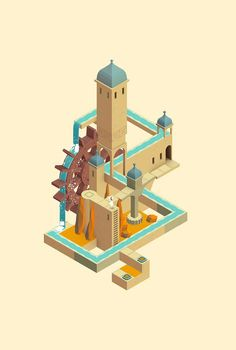 Image result for low poly m c escher