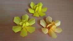 折り紙 水仙の花 立体 折り方 Origami DaffodilNarcissus flower 3D                                                                                                                                                     More
