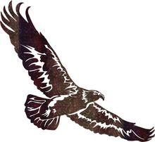 """18"""" Eagle Metal Wall Art"""
