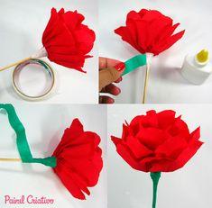 Flor de papel crepom