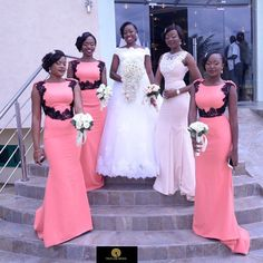 Some fashionable African wedding dresses ideas that must stand out for a memorable wedding inc African Bridesmaid Dresses, Mermaid Bridesmaid Dresses, African Wedding Dress, Prom Party Dresses, Mermaid Dresses, Beach Dresses, Prom Dress, Bridesmaids, Short Dresses