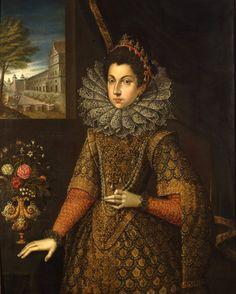 Ritratto di Caterina (o Catalina) Micaela, infanta di Spagna (Madrid, 1567-Torino, 1597), duchessa di Savoia