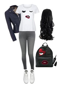"""Cool outfit"" by csehana on Polyvore featuring M&Co, LC Trendz, Vans, Chiara Ferragni, Maybelline and plus size clothing"
