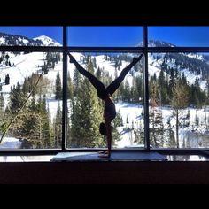 Wow. Check out that balance!  Pure zen found at Snowbird. #yoga #zen #utah #snowbird #resort #balance #acrobat #peace