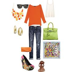 Orange You Happy?, created by snaoroz on Polyvore