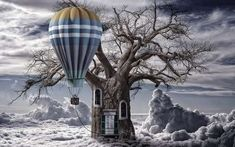 Fantasy wallpapers, desktop backgrounds hd, pictures and images Balloon Clouds, Balloons, Desktop Windows, Tree Wallpaper, Fantasy, Artwork, Pictures, Life, Outdoor