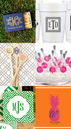 Hostess Courtney is sharing her latest Etsy Monogram Finds for Parties and Weddings from stir sticks to coasters! Party Food For Adults, Diy Party Crafts, Bridal Shower Party, Party Printables, Hostess Gifts, Monograms, Cute Gifts, Party Planning, Party Time