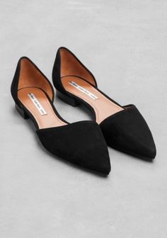Pointy Suede Flats