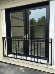 Modern Custom Powder Coated Railings Juliet Balconies In Lake Balcony Window, Porch Windows, Porch And Balcony, Iron Balcony, Bedroom Balcony, French Balcony, Modern Balcony, Small Balcony Decor, Juliette Balcony