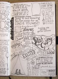 I like the idea of putting a bunch of words that I love in a journal, just as a journal entry