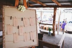 Rustic Seating Chart (instagram: the_lane)