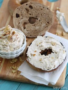 Copycat Panera honey walnut cream cheese