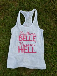 Southern Belle Raisin' Hell Burnout Tank by TwangBoutiquedotcom