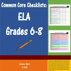 Get organized with Common Core State Standards Checklists for ELA Grades 6-8! Professional, easy-to-use, color-coded checklists will help you document when each Standard was taught and assessed. Space for notes helps you prepare for meetings and get a jump on lesson modifications and revisions. Also useful for aligning IEP goals, RTI documentation, and comparing the academic advances students need to make from one grade to the next.