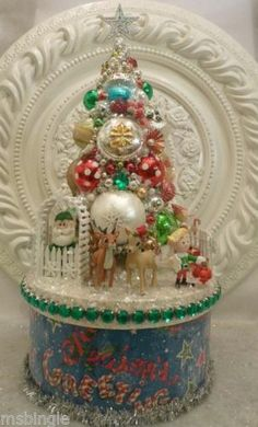Rudolph The Red Nosed Reindeer Bottle Brush Tree Box