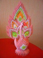 жар-птица- модульное оригами