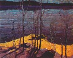 """Tom Thomson - """"Moonlight and Birches"""""""