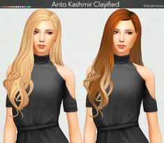 Kot Cat: Anto`s Kashmir Hair Clayified - Sims 4 Hairs - http://sims4hairs.com/kot-cat-antos-kashmir-hair-clayified/
