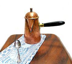 Copper Coffee Server Pot Mid Century Vintage Hand by CoconutRoad, $20.00